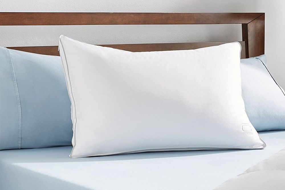 nikki chu white goose down pillow best for stomach sleepers