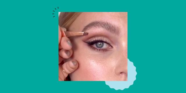 nikki makeup's brow plucking trick