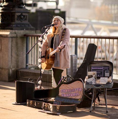 Street performance, Musician, Music, Sitting, Photography, Street fashion, Street, Performance,