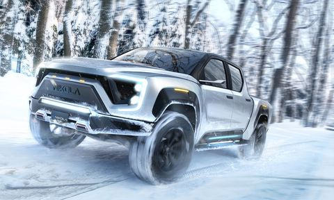 Nikola Badger EV FCEV hydrogen pickup truck rendered