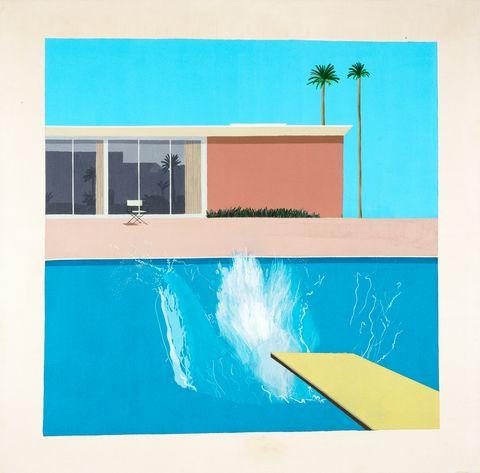 Blue, Turquoise, Aqua, Azure, Wall, Line, Illustration, Room, Design, Rectangle,
