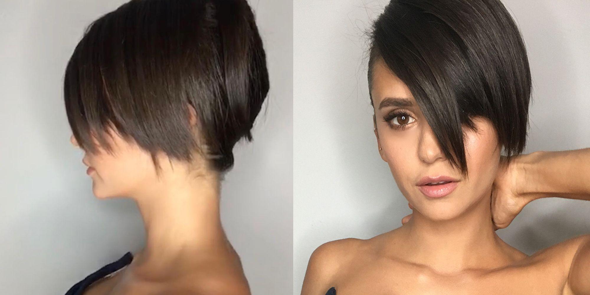 Nina Dobrev Gets Haircut For 2018 Cfda Awards Nina Dobrev Looks
