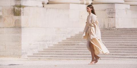 White, Photograph, Fashion, Street fashion, Beauty, Fashion model, Dress, Standing, Leg, Footwear,