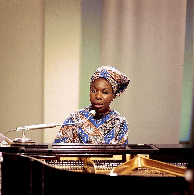 american singer, songwriter, pianist and civil rights activist nina simone 1933 2003 performs on a television show at bbc television centre in london in 1966 photo by david redfernredferns
