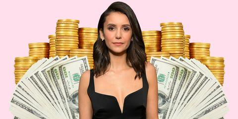 Saving, Money, Currency, Cash, Amber, Dress, Banknote, Money handling, Paper, Black hair,