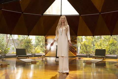 """nine perfect strangers    """"episode one""""   episode 101    promised total transformation, nine very different people arrive at tranquillum house, a secluded retreat run by the mysterious wellness guru masha masha nicole kidman, shown photo by vince valituttihulu"""