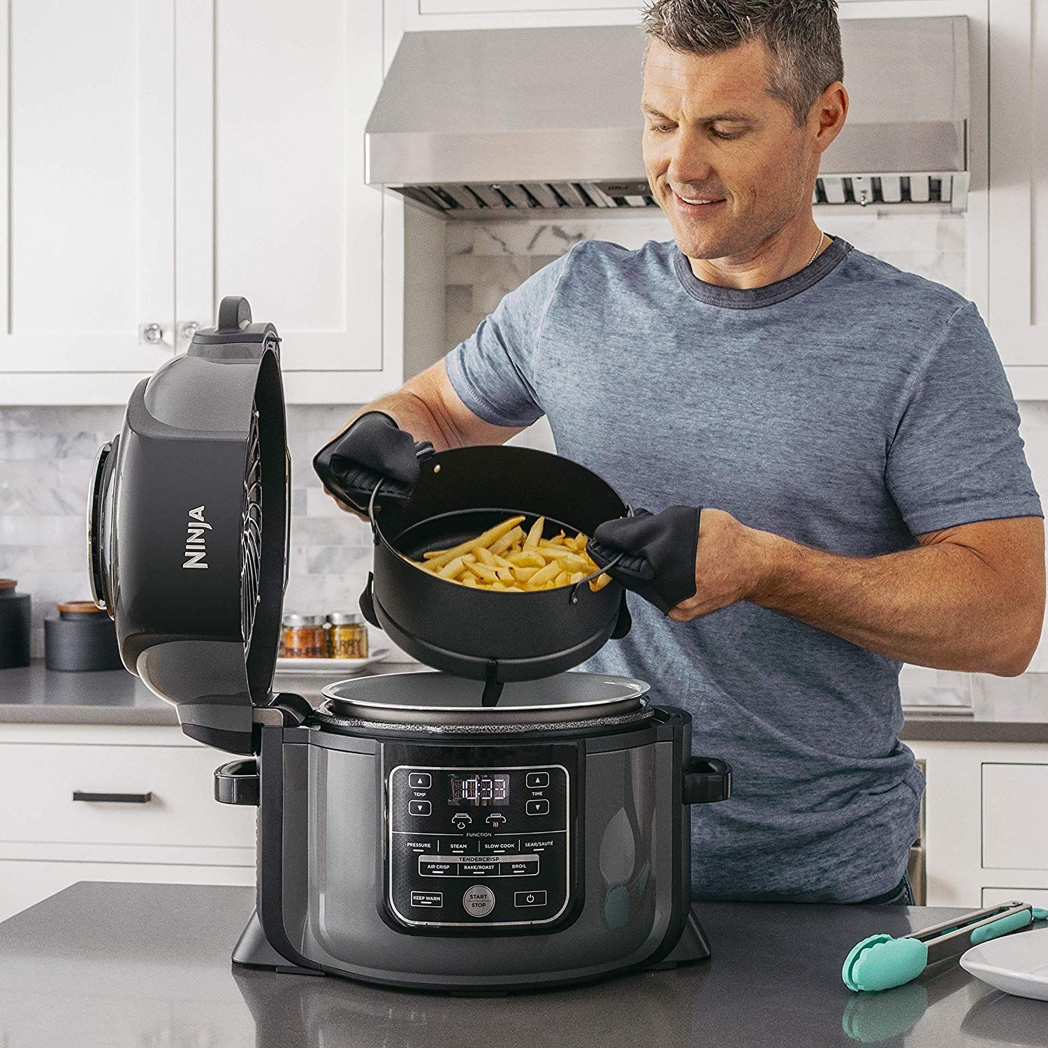 Ninja's Combination Pressure Cooker-Air Fryer Is On Sale For Its Lowest Price Ever