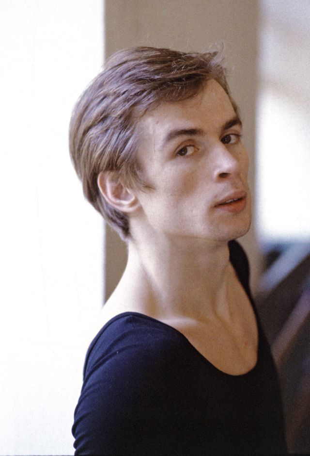 rudolf nureyev rehearsing, less than a year after he defected from the soviet union to the west, photographed in new york city january 24,1962 photo by jack mitchellgetty images