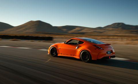 Land vehicle, Vehicle, Automotive design, Car, Sports car, Nissan 370z, Rolling, Performance car, Nissan, Landscape,