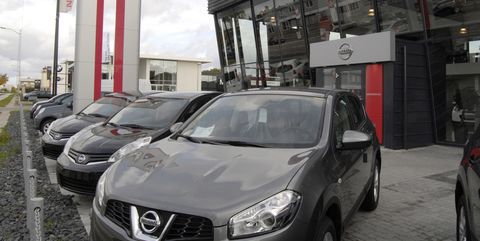 nissan cars at nissan car dealer in copenhagen denmark