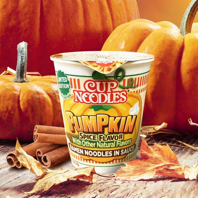 nissin foods cup noodles pumpkin spice flavor