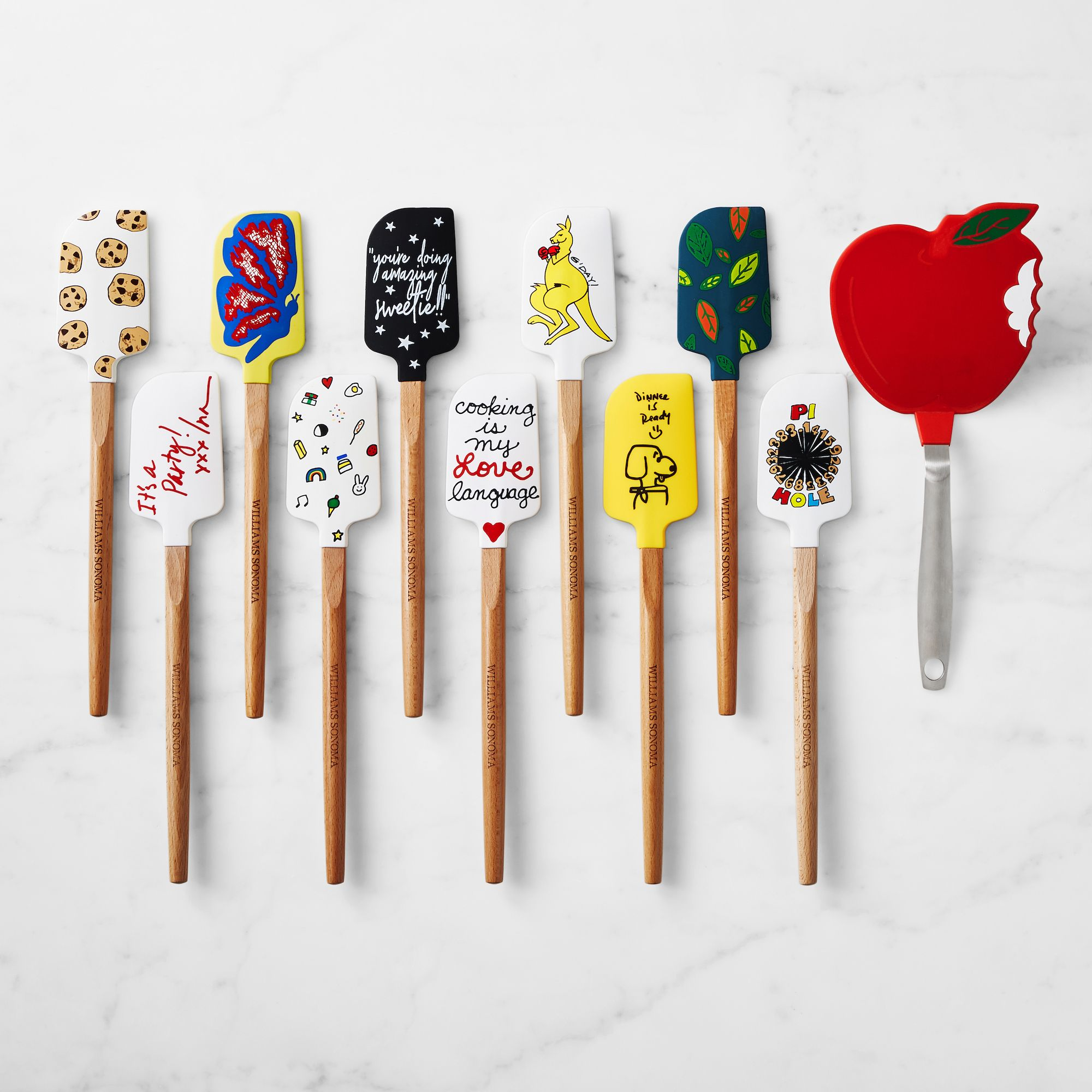 Williams Sonoma Released A Line Of Spatulas Designed By Celebrities Like Dolly Parton And Ina Garten