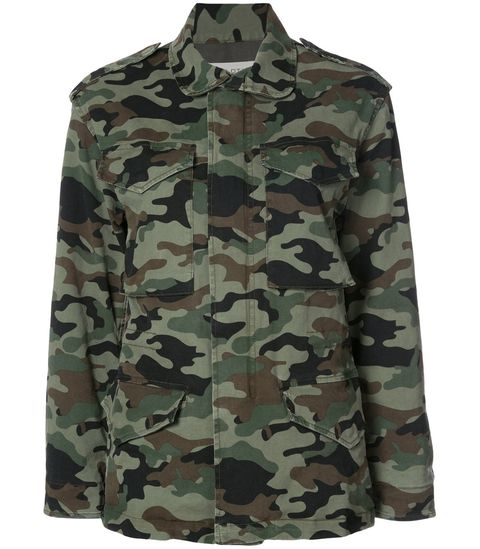 Clothing, Military camouflage, Camouflage, Sleeve, Pattern, Outerwear, Uniform, Collar, Design, Military uniform,