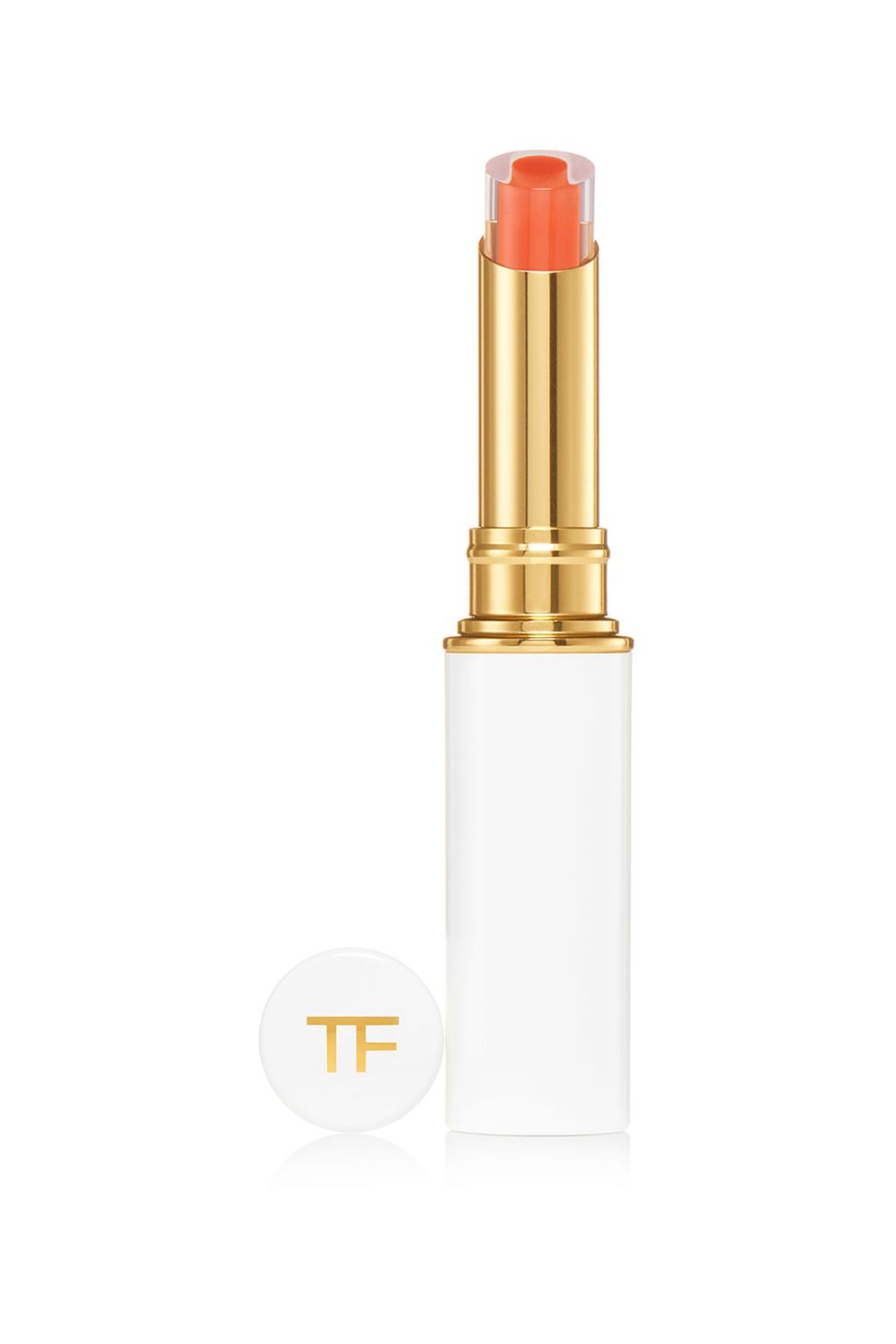 Fiery Apricot Tom Ford Lip Gelée in Scorching, $55 SHOP IT In one swipe, this cushiony texture will give your lips a healthy-looking glow. The tint offers sheer, buildable coverage if you're looking for more of a flesh-toned finish.