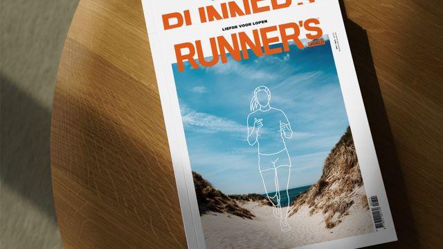 kom op de cover van runner's world magazine