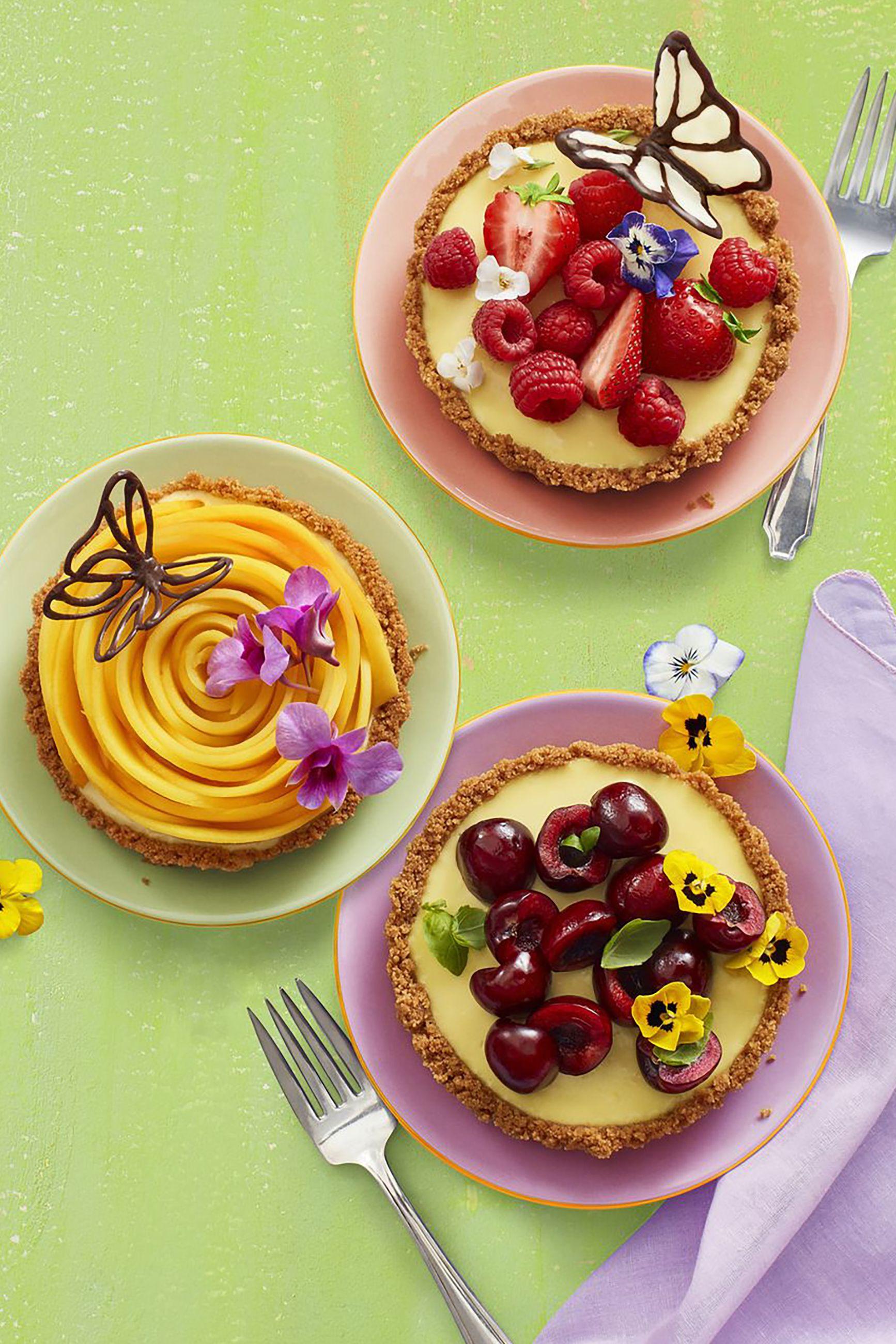 no-bake lemon tarts