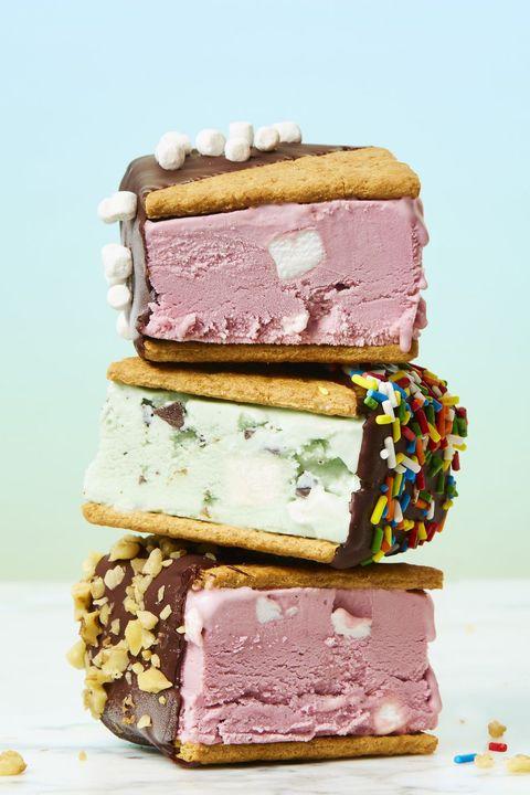 no bake ice cream s'mores