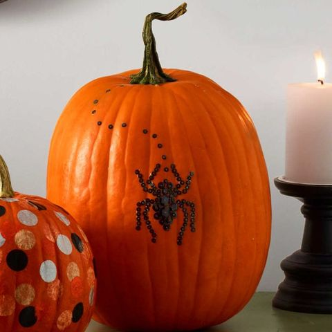 no carve pumpkin ideas spider