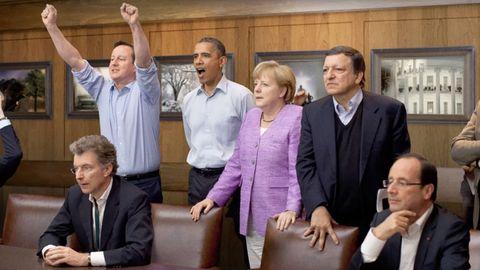 當我們把照片裡的男人們都「P掉」以後,這些國際重要場合就根本沒人了⋯