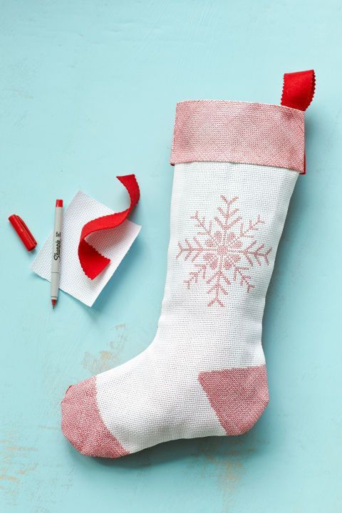86a1fa518 23 DIY Christmas Stockings - How to Make Christmas Stockings Craft Ideas -  Woman s Day
