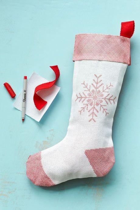 DIY Christmas Stockings No-Sew Christmas Stocking