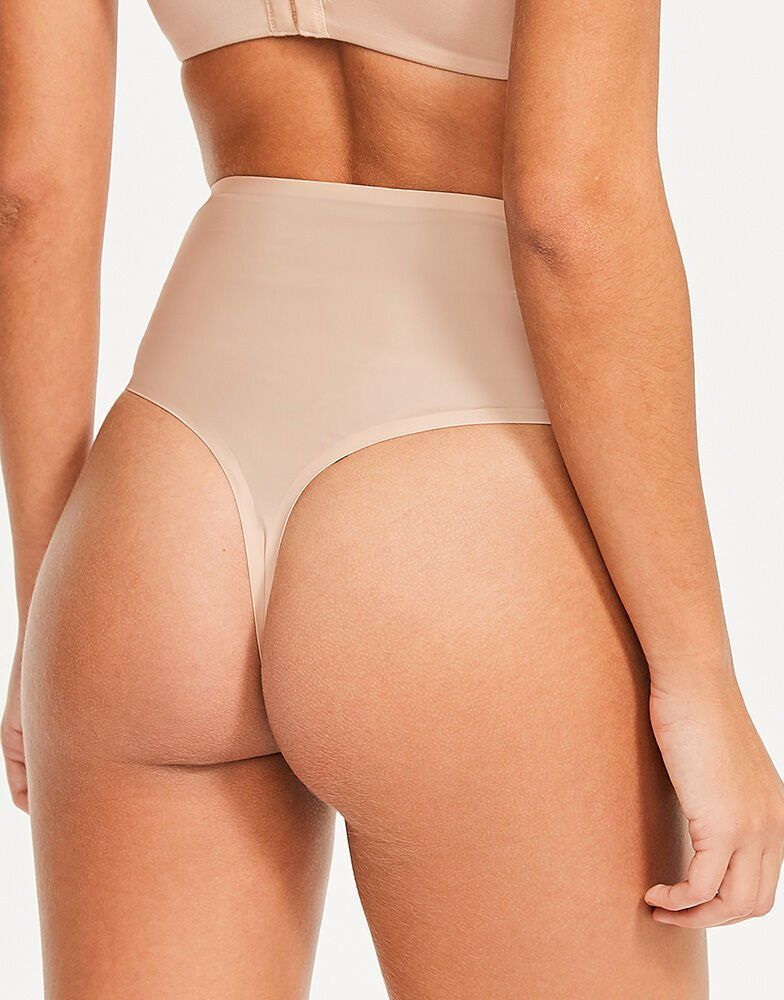 3 PAIRS M/&S COTTON BRAZILIAN WITH LACE BEIGE SIZE 18 STRETCH LINGERIE KNICKERS