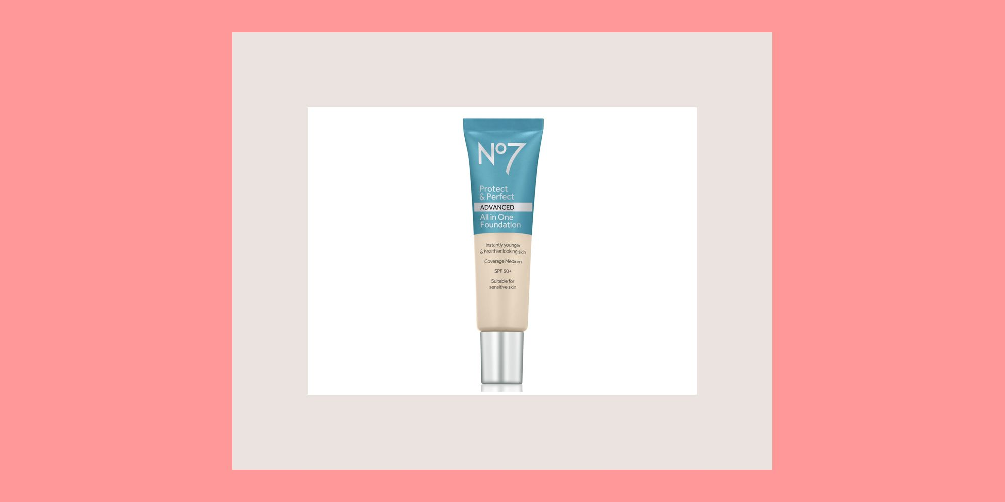 No7's new Protect & Perfect Advanced All in One foundation is selling once every 13 seconds