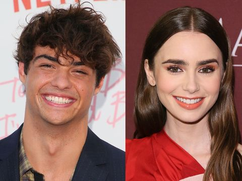 Noah Centineo and Lily Collins Are Totally Flirting Over His Calvin Klein Ads