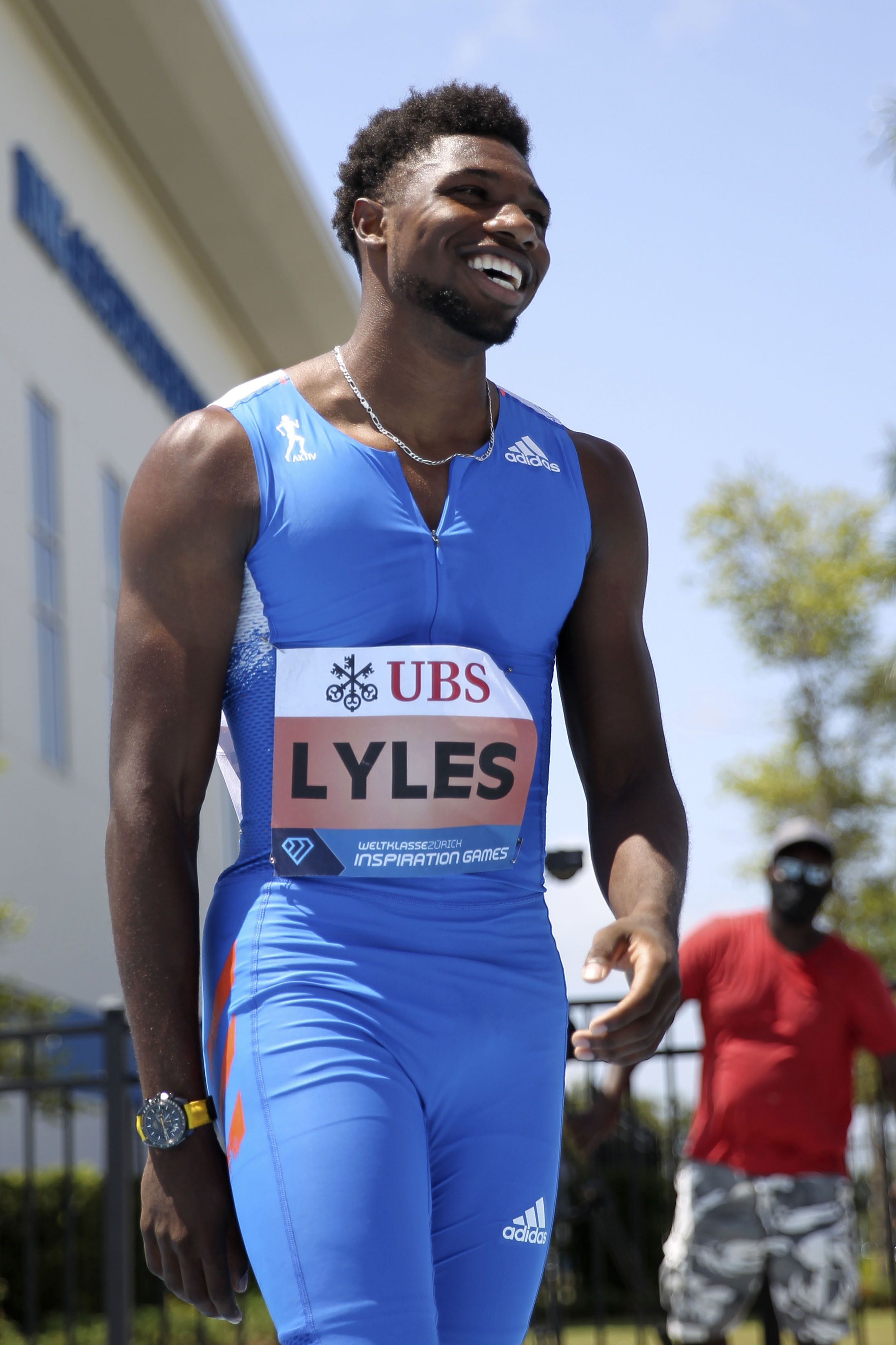 Noah Lyles's Stunning 200M at the Inspiration Games ... Was Actually 15 Meters Short