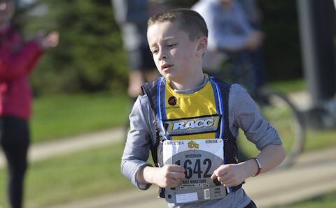 10-Year-Old Runs 1:37 Half Marathon