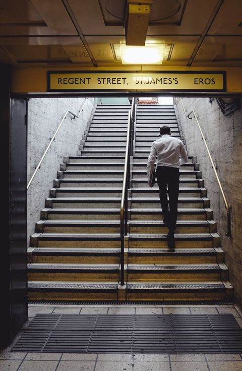 Stairs, Transport, Yellow, Line, Architecture, Handrail, Subway, Building, Metro station, Parallel,
