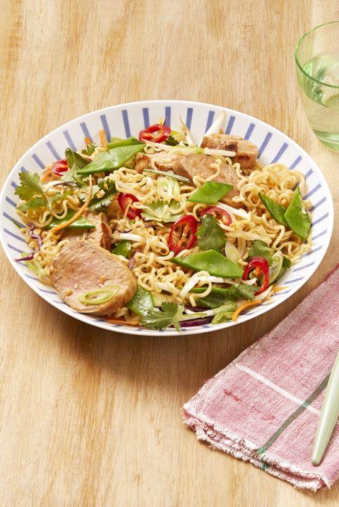 noodle bowl sesame pork noodle salad