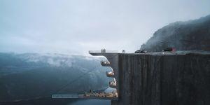Noors hotel boven klif
