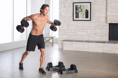 Weights, Exercise equipment, Shoulder, Physical fitness, Arm, Sports equipment, Barbell, Joint, Chest, Dumbbell,