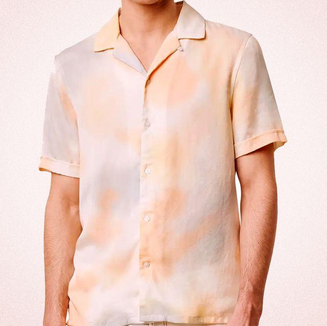 tie dye button up shirt