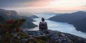 vrouw in noorwegen