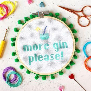 gin cross stitch kit