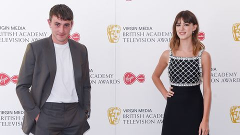 london, england   july 31 paul mescal and daisy edgar jones socially distant attend the virgin media british academy television award 2020 at television centre on july 31, 2020 in london, england photo by david m benettdave benettgetty images