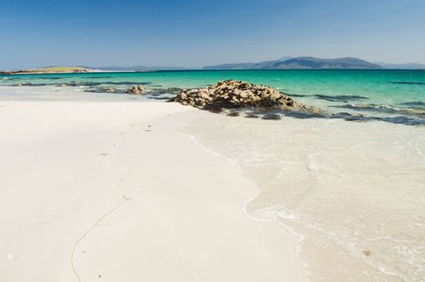 Beach on the island of Iona, Argyll, Scotland.. Image shot 2013. Exact date unknown.