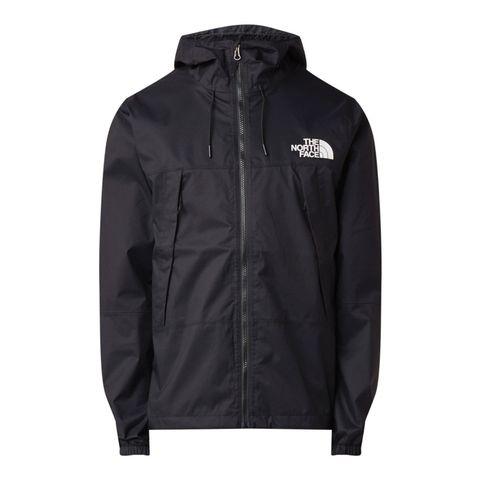 the north face 1990 mountain q jack ritszakken waterdicht winddicht zwart jacket jas