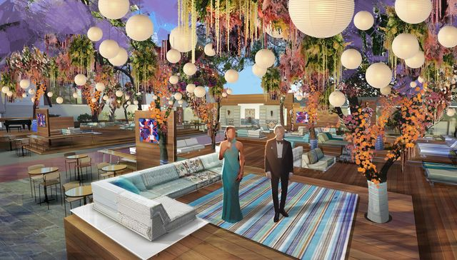 renderings of rockwell's outdoor areas for the oscars