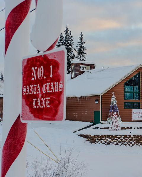 north pole alaska christmas towns
