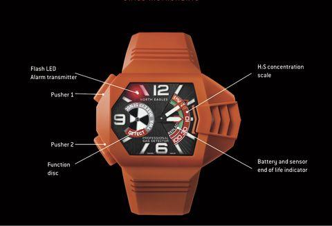Analog watch, Watch, Orange, Strap, Watch accessory, Fashion accessory, Font, Hardware accessory, Brand,