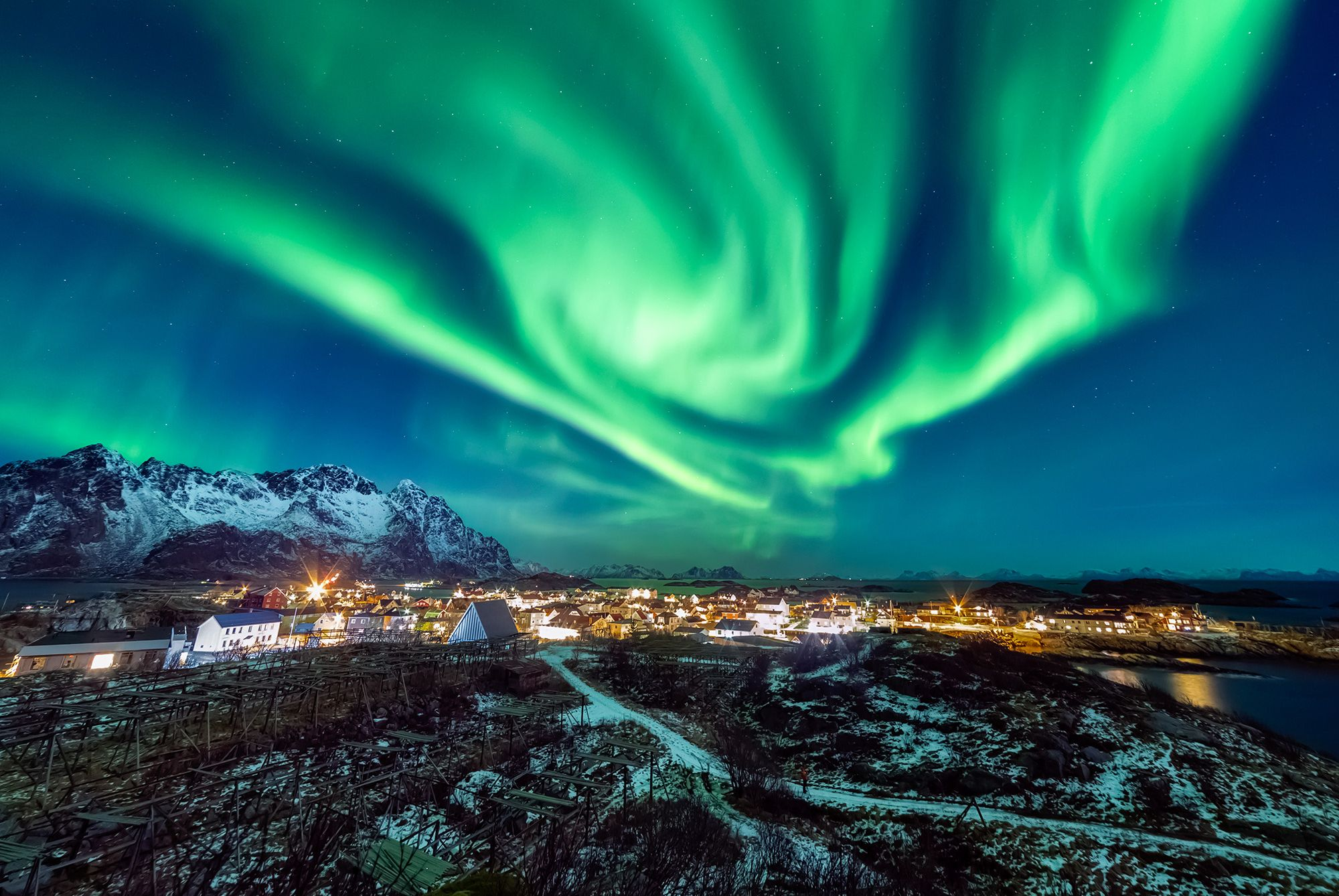 What are the Northern Lights and where can I see them?
