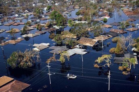 Northwest New Orleans near Pontchartrain Lake, after Hurricane Katrina, Louisiana, United States