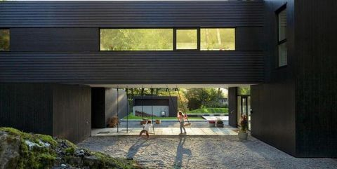 Concrete, Shade, Composite material, Driveway, Building material, Daylighting,