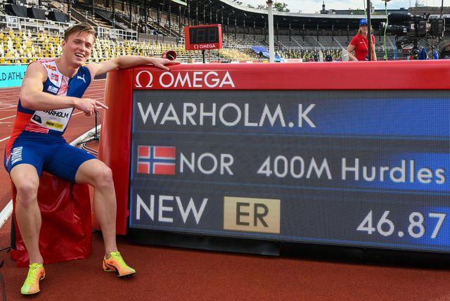 karsten warholm consigue en estocolmo la segunda mejor marca de la historia en 400 metros con vallas