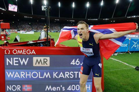 Karsten Warholm bate el récord de Europa de 400m. vallas.