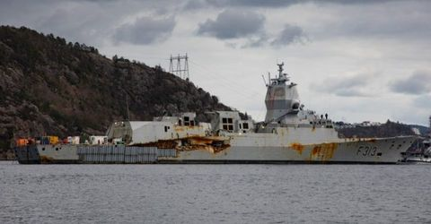 Norway's Ruined Frigate Is Afloat Again and It Doesn't Look Good