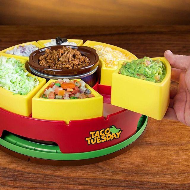 nostalgia products taco tuesday lazy susan